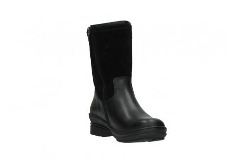 wolky halfhoge laarzen 7628 wilton wp 500 zwart leer water proof vachtvoering_17