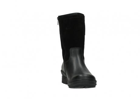 wolky halfhoge laarzen 7628 wilton wp 500 zwart leer water proof vachtvoering_18