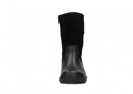 wolky halfhoge laarzen 7628 wilton wp 500 zwart leer water proof vachtvoering_19