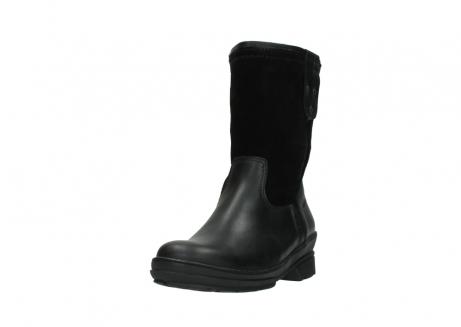 wolky halfhoge laarzen 7628 wilton wp 500 zwart leer water proof vachtvoering_21