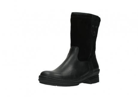 wolky halfhoge laarzen 7628 wilton wp 500 zwart leer water proof vachtvoering_22