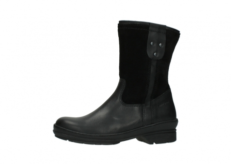 wolky halfhoge laarzen 7628 wilton wp 500 zwart leer water proof vachtvoering_24