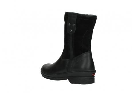 wolky halfhoge laarzen 7628 wilton wp 500 zwart leer water proof vachtvoering_4