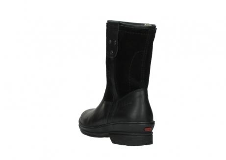wolky halfhoge laarzen 7628 wilton wp 500 zwart leer water proof vachtvoering_5