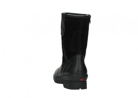 wolky halfhoge laarzen 7628 wilton wp 500 zwart leer water proof vachtvoering_6