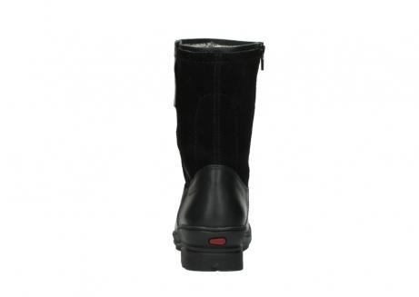wolky halfhoge laarzen 7628 wilton wp 500 zwart leer water proof vachtvoering_7