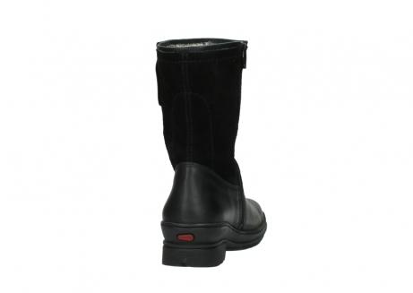 wolky halfhoge laarzen 7628 wilton wp 500 zwart leer water proof vachtvoering_8
