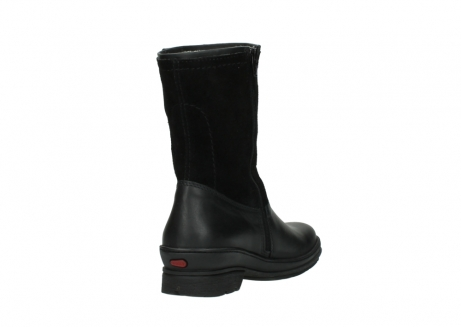 wolky halfhoge laarzen 7628 wilton wp 500 zwart leer water proof vachtvoering_9