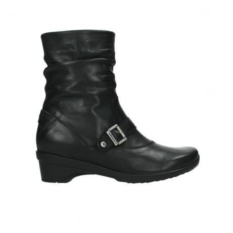 wolky halfhoge laarzen 7655 florida cw 200 zwart leer cold winter vachtvoering