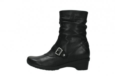 wolky halfhoge laarzen 7655 florida cw 200 zwart leer cold winter vachtvoering_1