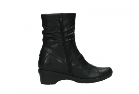 wolky halfhoge laarzen 7655 florida cw 200 zwart leer cold winter vachtvoering_12
