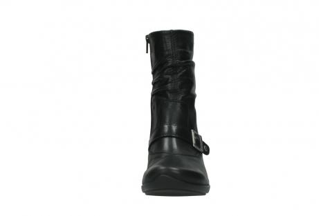 wolky halfhoge laarzen 7655 florida cw 200 zwart leer cold winter vachtvoering_19