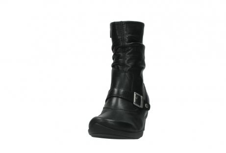 wolky halfhoge laarzen 7655 florida cw 200 zwart leer cold winter vachtvoering_20