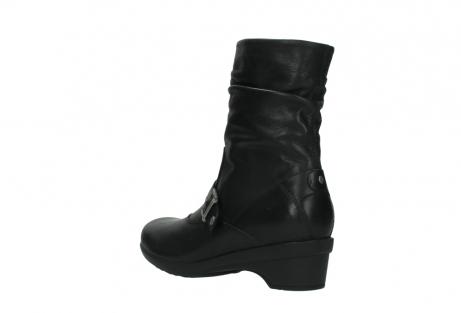 wolky halfhoge laarzen 7655 florida cw 200 zwart leer cold winter vachtvoering_4