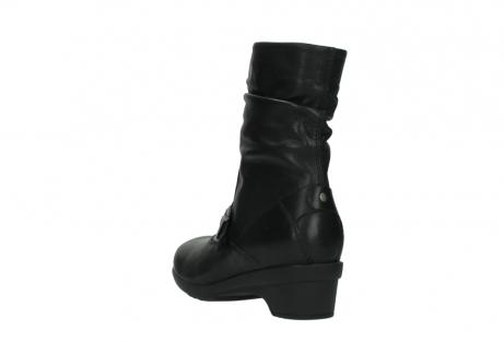 wolky halfhoge laarzen 7655 florida cw 200 zwart leer cold winter vachtvoering_5