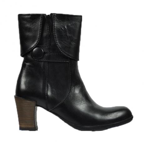 wolky halfhoge laarzen 7728 petra 300 zwart leer
