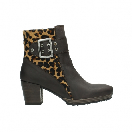 wolky halbhohe stiefel 8026 hopewell 930 braun leopard print