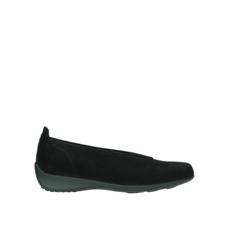 wolky slippers 00359 ballet 40000 suede noir