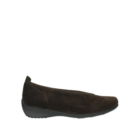 wolky slippers 00359 ballet suede marron