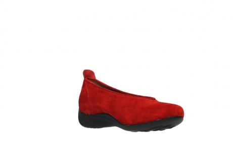 wolky slippers 00359 ballet 40500 suede rouge_16