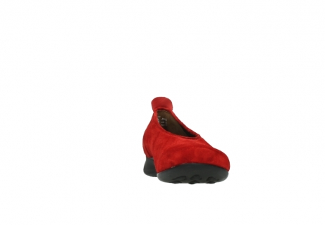 wolky slippers 00359 ballet 40500 suede rouge_18