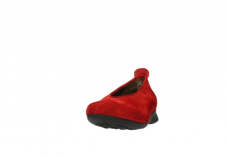 wolky slippers 00359 ballet 40500 suede rouge_20