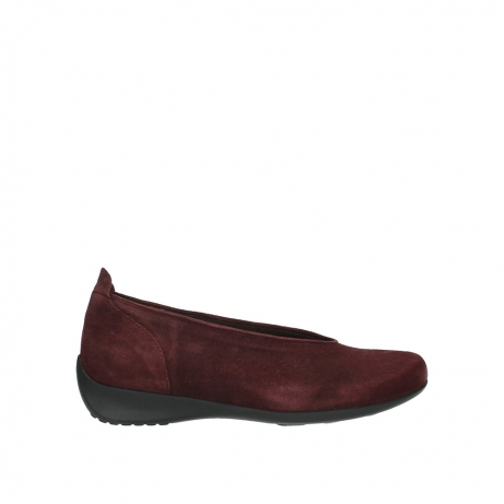 wolky instappers 00359 ballet 40510 bordeaux suede