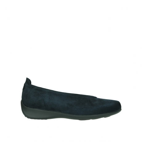 wolky slippers 00359 ballet 40800 suede bleu