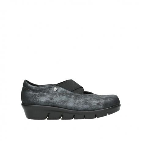 wolky slippers 00665 cursa 10003 schwarz metallic nubuk