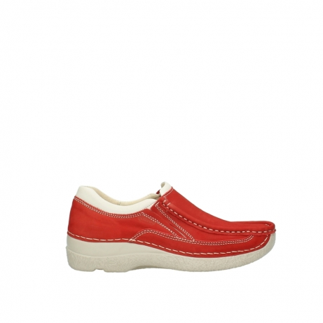 wolky slippers 06206 roll sneaker 10570 rot sommer nubuk