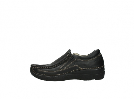 wolky slipons 06206 roll sneaker 70010 black_1