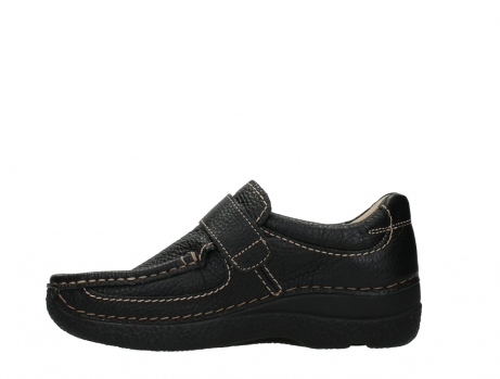 wolky slipons 06221 roll strap 70000 black printed leather_13