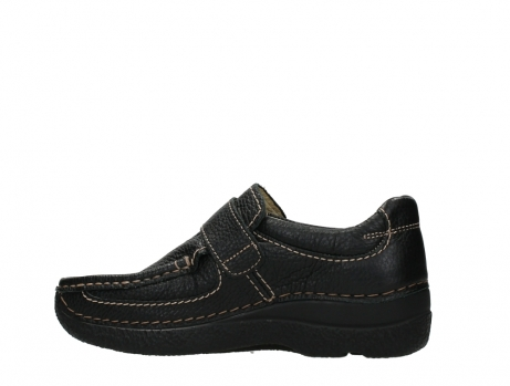 wolky slipons 06221 roll strap 70000 black printed leather_14