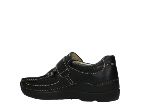 wolky slipons 06221 roll strap 70000 black printed leather_15