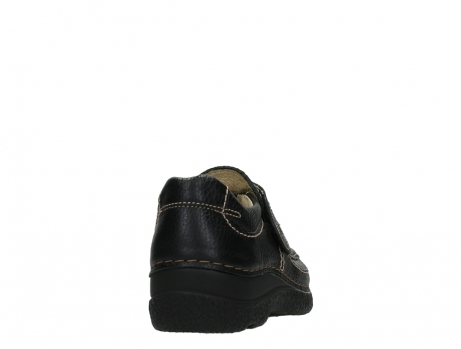 wolky slipons 06221 roll strap 70000 black printed leather_20