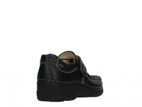 wolky slipons 06221 roll strap 70000 black printed leather_21