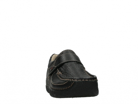 wolky slipons 06221 roll strap 70000 black printed leather_6
