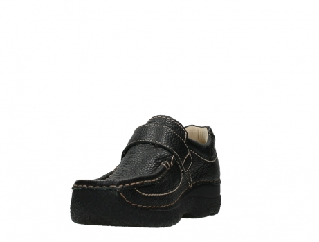 wolky slipons 06221 roll strap 70000 black printed leather_9