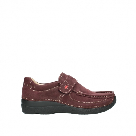 wolky slippers 06221 roll strap 90510 bordeaux nubukleder