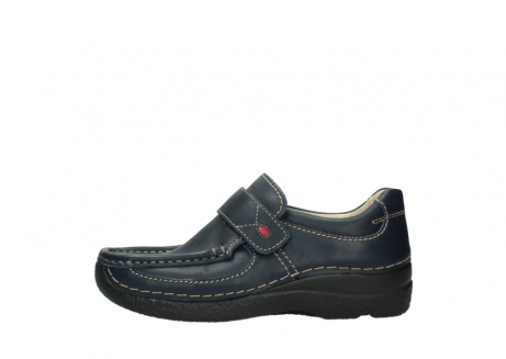 wolky slipons 06221 roll strap 30800 blue leather_1