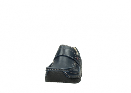 wolky slipons 06221 roll strap 30800 blue leather_20