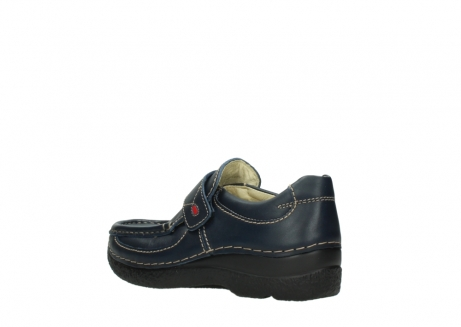 wolky slipons 06221 roll strap 30800 blue leather_4