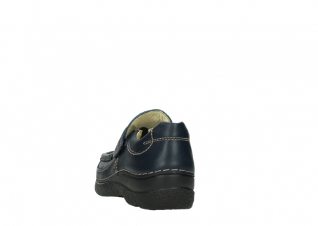 wolky slipons 06221 roll strap 30800 blue leather_6