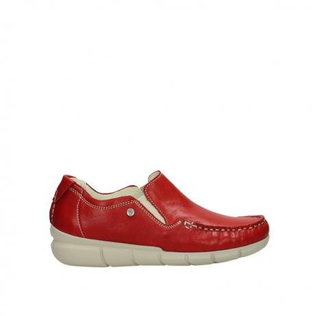 wolky slippers 1511 sekani 757 rot sommer leder