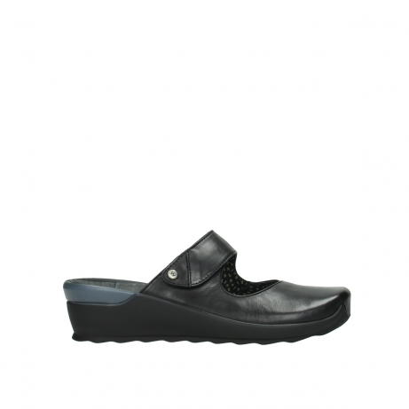 wolky clogs 02576 up 20000 schwarz leder