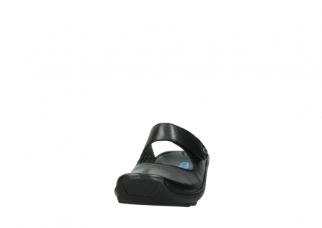 wolky clogs 02576 up 20000 schwarz leder_20