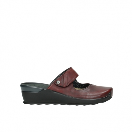 wolky clogs 02576 up 20500 rot leder