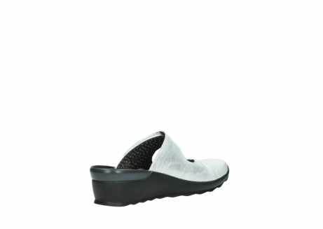wolky clogs 02576 up 30130 silber leder_10
