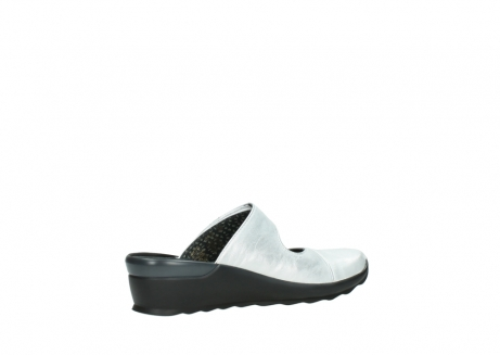 wolky clogs 02576 up 30130 silber leder_11