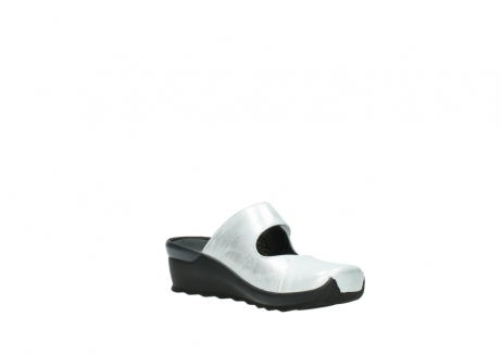 wolky clogs 02576 up 30130 silber leder_16